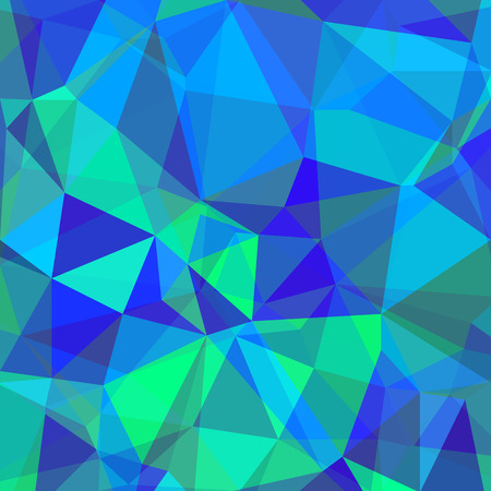 Blue Green Polygonal Background. Abstract Geometric Pattern.