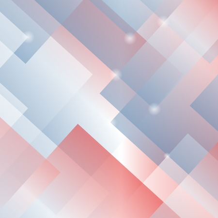 square background: Abstract Square Background. Geometric Red Blue Pattern. Stock Photo