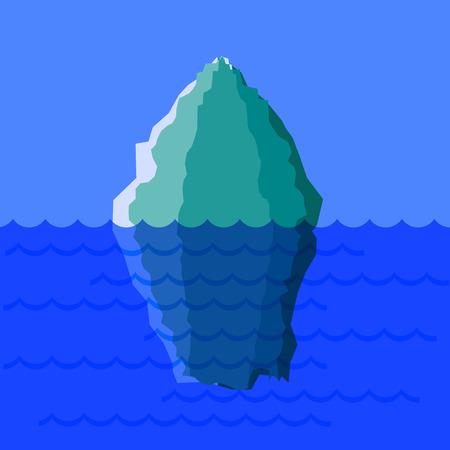 glacial: Big Cold Snow Iceberg on Blue Ocean Water