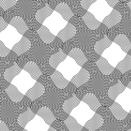 guilloche: Abstract Wave Texture on  White Background. Guilloche Pattern