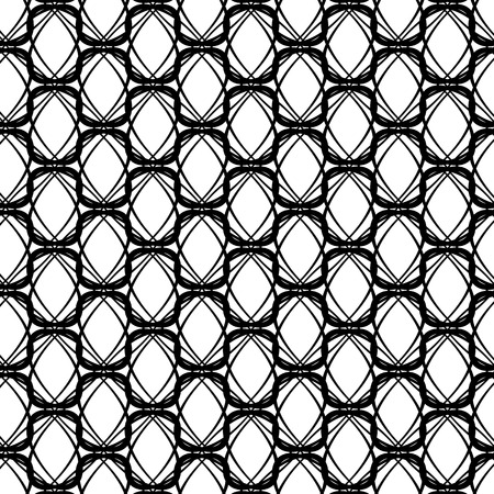 Ornamental Texture on White Background. Abstract Geometric Pattern Ilustra��o