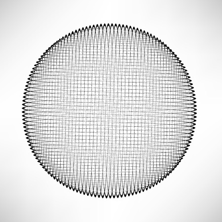 grid background: Abstract Grid Circle Isolated on White Background. Illustration