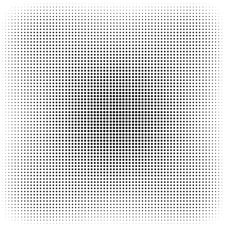 Halftone Isolated on White Background. Dotted Abstract Texture. Dirty Damaged Spotted Circles Pattern.  イラスト・ベクター素材