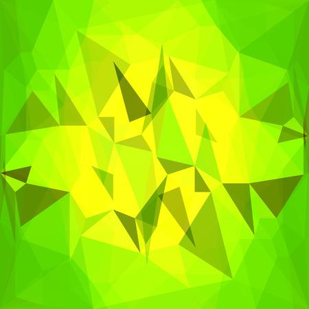 hintergrund gr�n gelb: Abstrakt Crystal Green Gelber Hintergrund. Polygonale Muster. Illustration