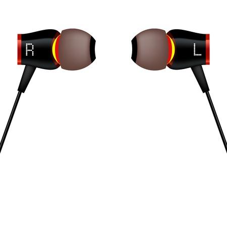 Modern Headphones Icon Isolated on White Background