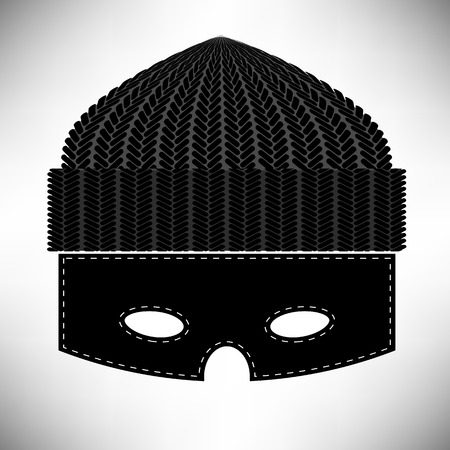 plunderer: Thief Icon Isolated on Grey Background. Symbol of Robber