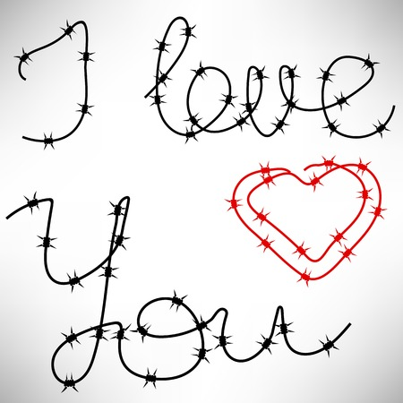 Barbed Wire Heart Background
