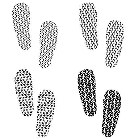 imprints: Set of Imprints Isolated on White Background Illustration