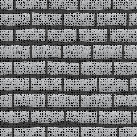 grey pattern: Grunge Grey Wall.  Abstract Grey Brick Pattern. Stock Photo