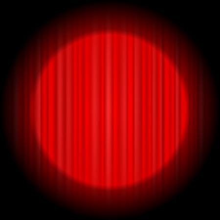 sipario chiuso: Cinema Chiuso il sipario rosso. Motivo ornamentale Materiale tessile Rosso. Cinema Stage.