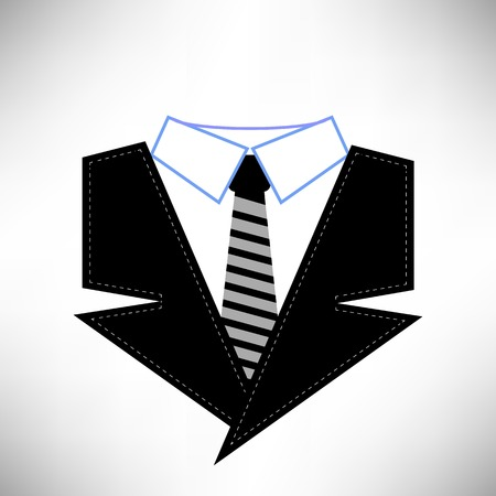 business suit: Business Suit Icon Isolated on White Background