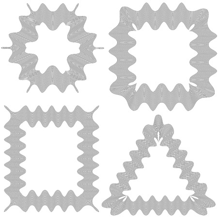marcos decorativos: Set of Decorative Frames Isolated on White Pattern