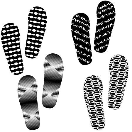 Set Imprints auf weißen Hintergrund Standard-Bild