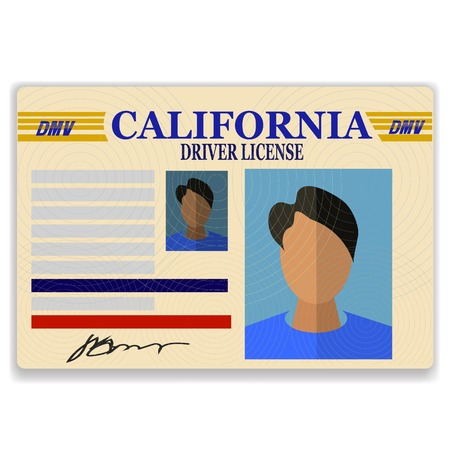 drivers license: Driver License Plastic Card Isolated on White Background