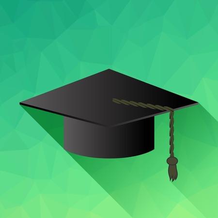 alumna: Dark Academic Cap Isolated on Green Background