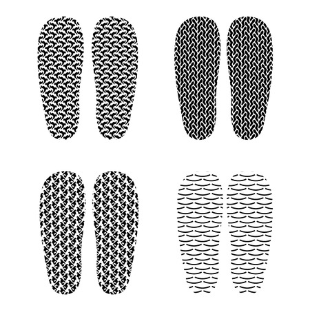 imprints: Set of Different Imprints Isolated on White Background Stock Photo