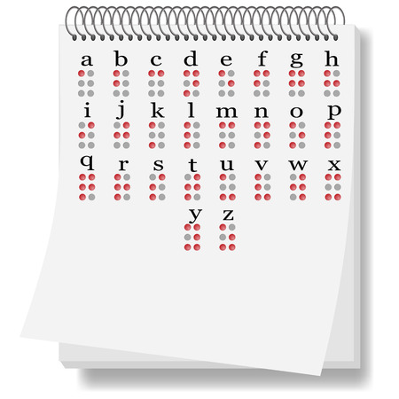 braille: Braille Alphabet Isolated on White Background. Set of Symbols Stock Photo