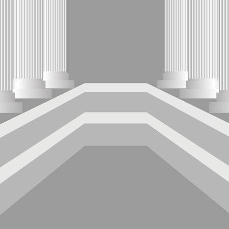 pillars: Grey Columns Background. Classic Greek Grey Pillars