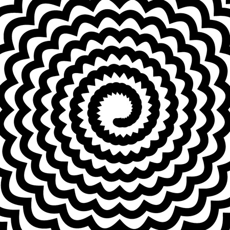 mesmerize: Black Spiral Background. Hypnotic Monochrome Sripal Pattern