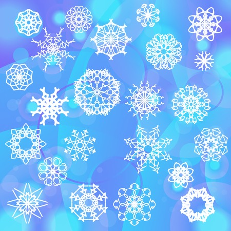 snow flake: Snow Flake Background. Winter Decorative Ornamental Pattern