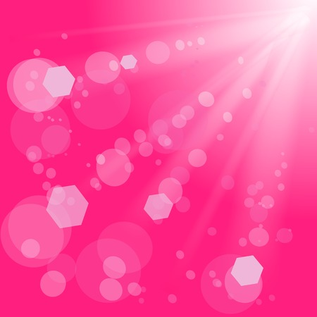 dazzling: Sun Lights on Pink Background.  Pink Summer Sun Light Burst.