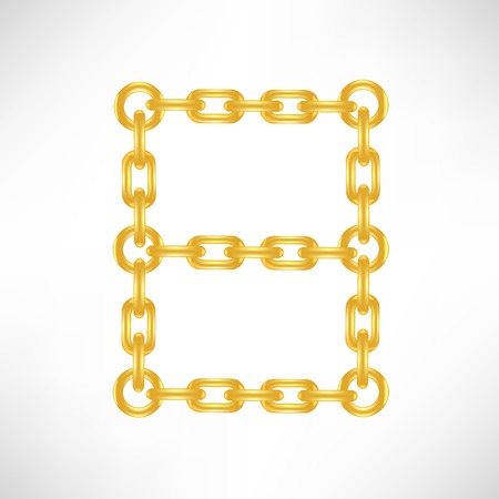 exclusive collection: Gold Number 8 Isolated on White Background Illustration