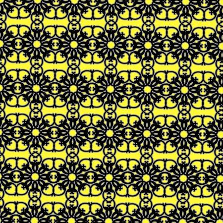 ornamental background: Decorative Ornamental Background. Abstract Geometric Retro Pattern Illustration