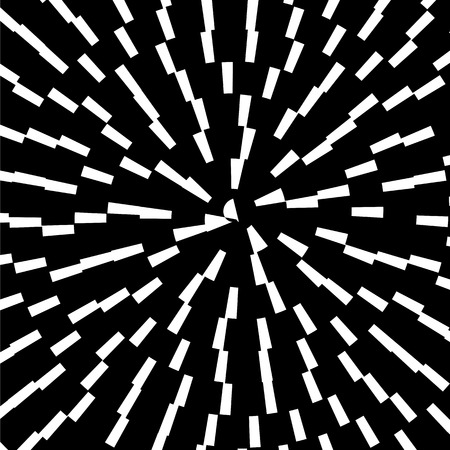 hypnotic: Black Spiral Background. Hypnotic Monochrome Sripal Pattern