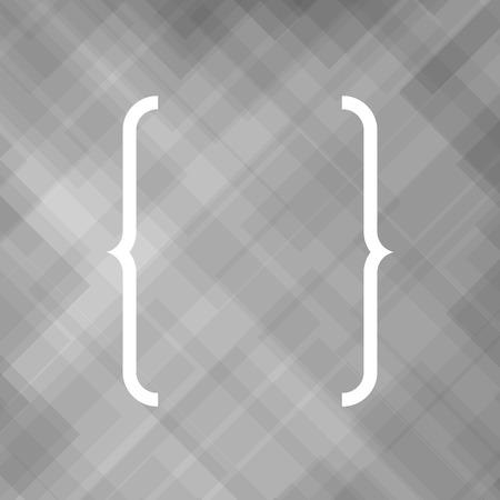 bracket: Curly Bracket Icon Isolated on Grey Background