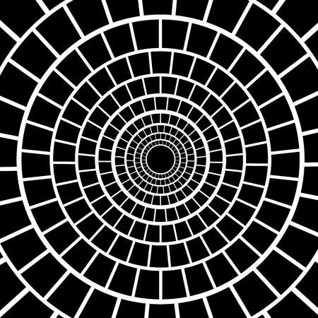Black Mosaic Background. Hypnotic Monochrome Mosaic Pattern