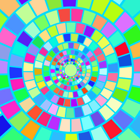 mesmerize: Colorful Mosaic Background. Hypnotic Colorful Mosaic Pattern