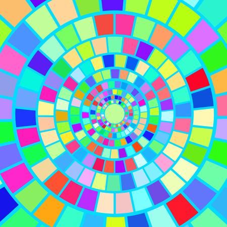 hypnotism: Fondo colorido del mosaico. Hypnotic modelo colorido mosaico Vectores