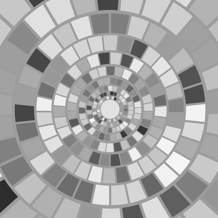 hypnotism: Antecedentes del mosaico gris. Hypnotic modelo colorido mosaico