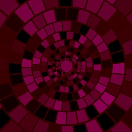 hypnotism: Antecedentes del mosaico rojo. Hypnotic Modelo de mosaico rojo Vectores
