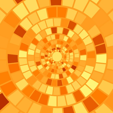 hypnotism: Orange Mosaic Background. Hypnotic Orange Mosaic Pattern