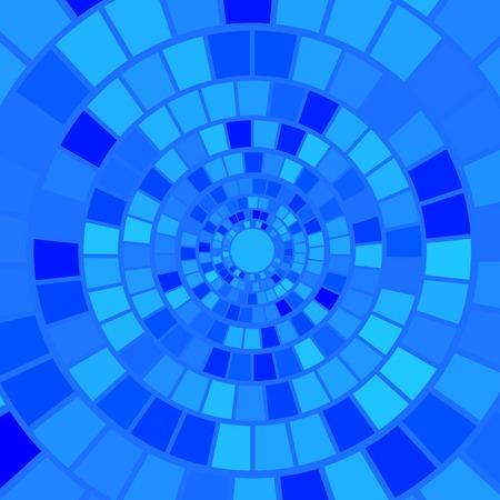 hypnotism: Fondo azul del mosaico. Modelo abstracto azul del mosaico
