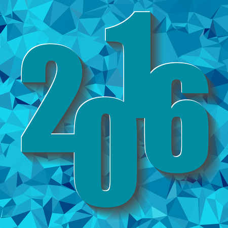 new years resolution: Abstract Blue Polygonal Christmas Background. New Year Background