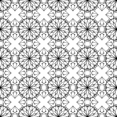 white background'abstract: Ornamental Texture on White Background. Abstract Geometric Pattern Illustration