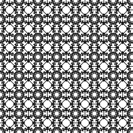 ornamental background: Decorative Ornamental Background. Abstract Geometric Retro Pattern Stock Photo