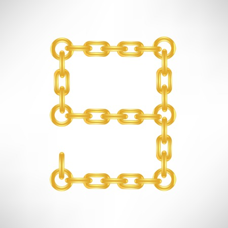 emboss: Gold Number 9 Isolated on White Background Stock Photo