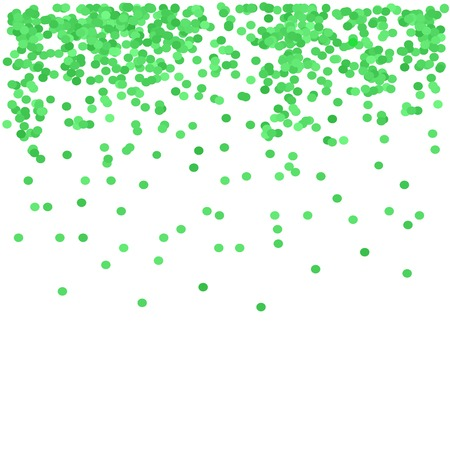 festive background: Green Confetti Isolated on White background. Green Circle Pattern