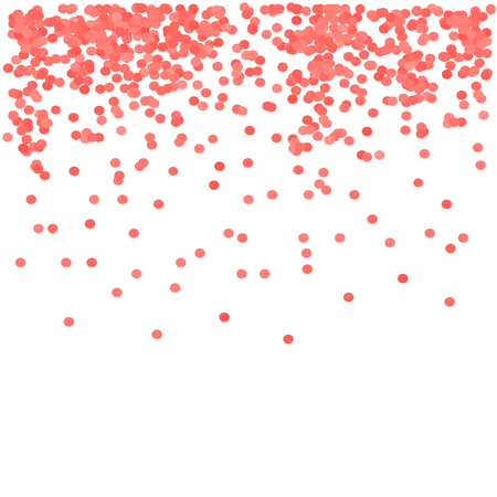 white party: Red Confetti Isolated on White background. Red Circle Pattern