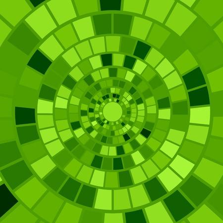 hypnotism: Green Mosaic Background. Hypnotic Green Mosaic Pattern