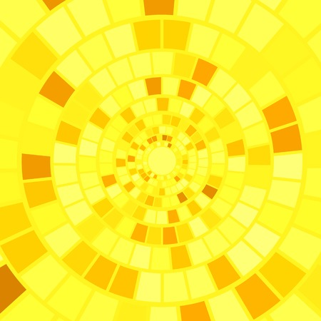 hypnotic: Yellow Mosaic Background. Hypnotic Yellow Mosaic Pattern