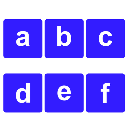 basic letters: Basic Font for letters. Flat Web Icon or Sign Isolated on White Background