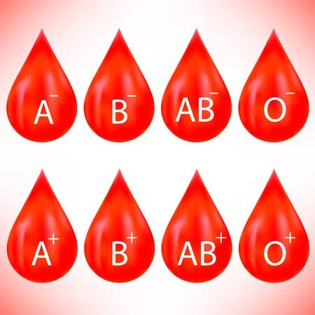 globulos blancos: Conjunto de rojo gotas aisladas sobre fondo rosa. Iconos gota de sangre Vectores