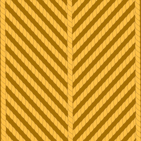 Striped Rope Ornamental Background. Stong Brown Rope Pattern Stock Photo