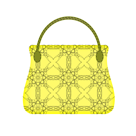 capacious: Single Womens Handbag Isolated on White Background