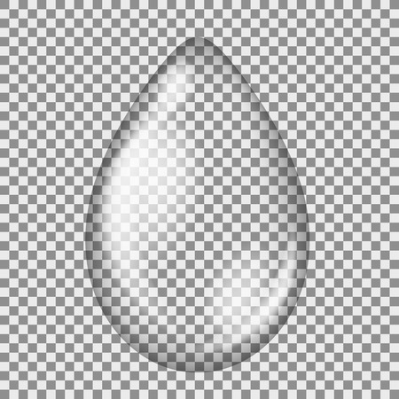 replicate: Transparent Water Drop Isolated on Grey Checkered Background Illustration