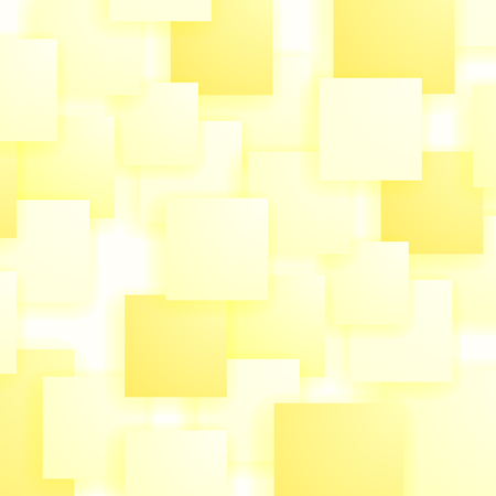 distort: Square Blank Background. Set of Yellow Squares. Squares Pattern